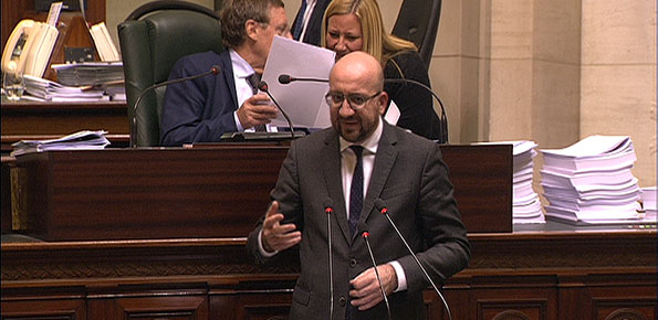 Charles Michel, debat begroting Kamer