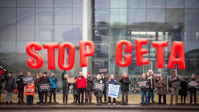 Betoging tegen CETA